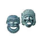 Κεραμικές μάσκες μεγάλες (Σετ) - MD302